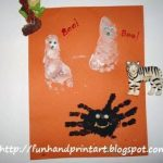 Spooky Halloween Fun – Handprint Spider and Footprint Ghosts