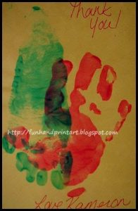 Handprint Thank You Card