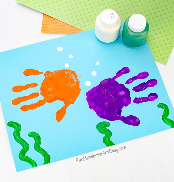 Handprint for fish bodies