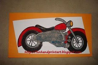 Cool Footprint Motorcycle Art