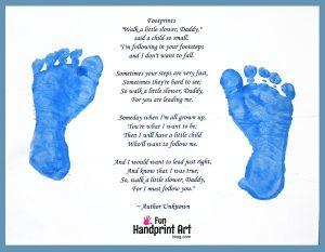 Walk a Little Slower Daddy Father's Day Poem & Footprint Craft