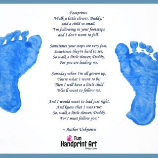Follow in Father's Footsteps Poem and Craft
