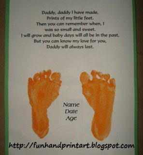 Footprint Keepsake Gift For Dad