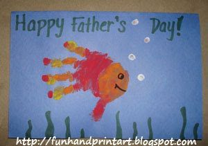 Adorable Handprint Father's Day Card