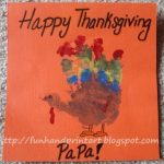 Colorful Handprint Turkey Thanksgiving Card