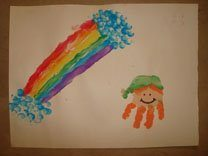 leprechaun rainbow handprints & fingerprints