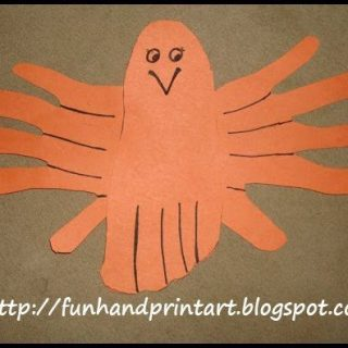 Adorable Hand & Foot Print Bird