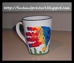 DIY Coffee Mug Handprint Craft