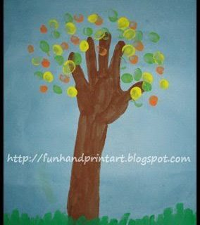 Colorful Handprint Tree