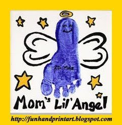 Mom's Lil' Angel Footprint Tile Keepsake & Gift Idea