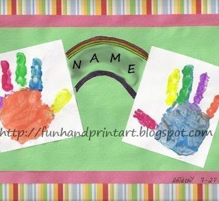 Colorful Rainbow Handprints Craft