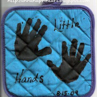 Handprint and Footprint Potholders