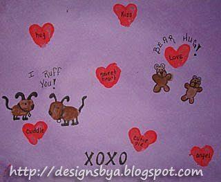 February Thumbprint Art