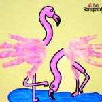 Adorable Handprint Pink Flamingo Craft