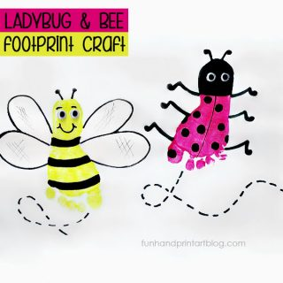 Footprint Ladybug & Bee Crafts