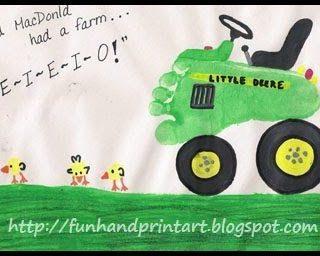 Farm Craft ~ Footprint Tractor & Thumbprint Chicks