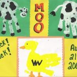Farm Animal Handprints ~ Duck and Cow