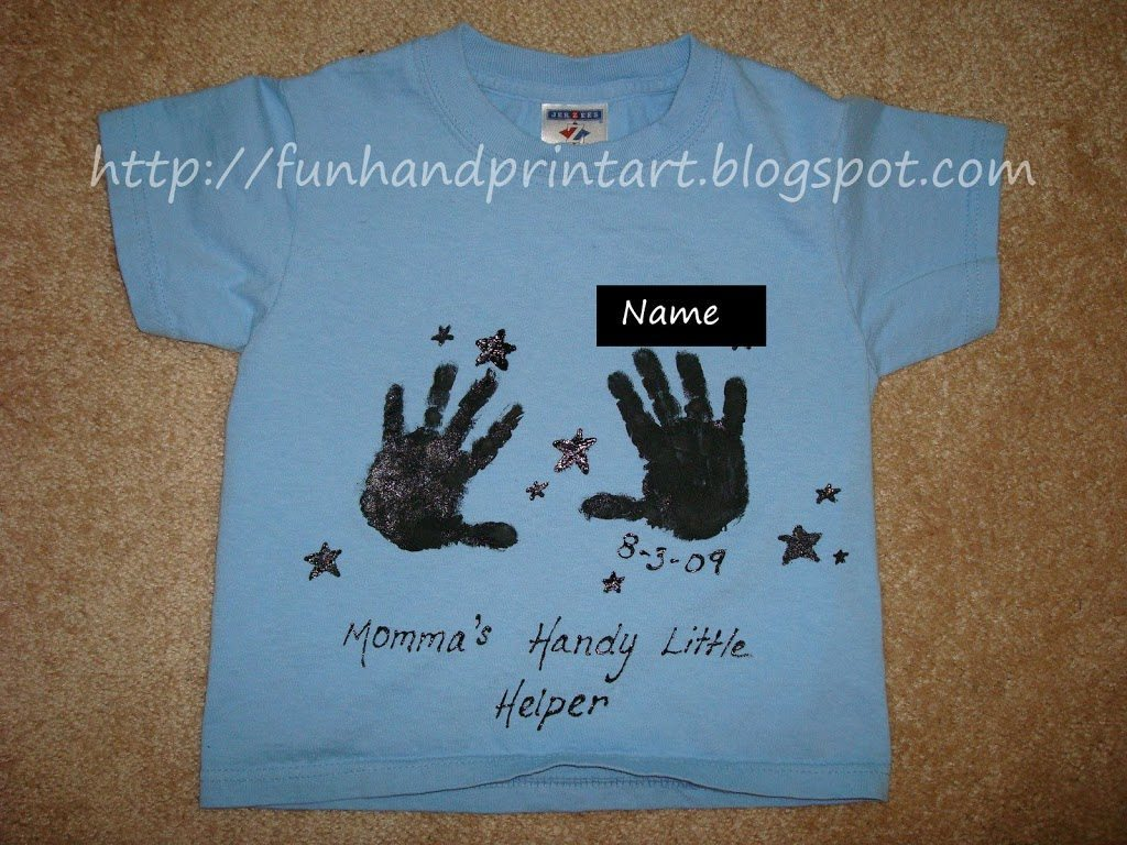 Mom S Handy Little Helper T Shirt Craft Fun Handprint Art