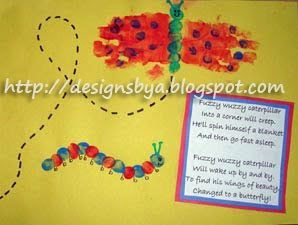May Handprint Butterfly and Thumbprint Caterpillar