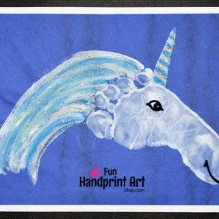 Sparkly Footprint Unicorn Craft