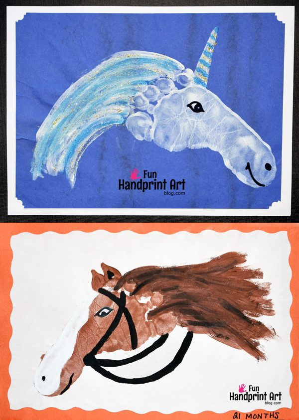 Horse Footprint & Unicorn Footprint Craft