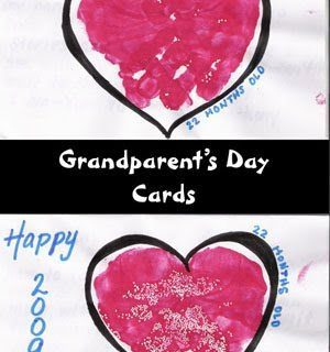 Handprint Heart Grandparent's Day Card