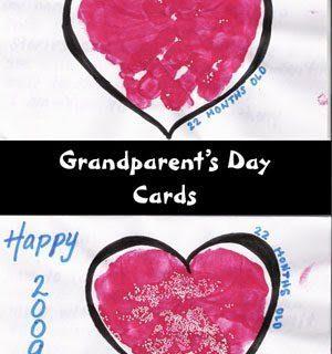 Handprint Heart Grandparent's Day Card