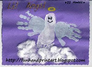 Darling Handprint and Footprint Angel Art Project for Kids