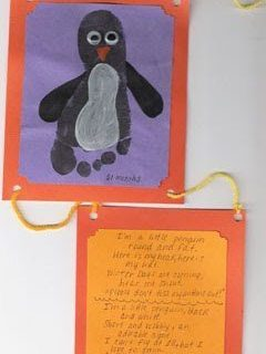 Footprint Penguin Wall Decoration