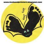 Halloween Footprint Bat