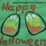 Halloween Handprint Candy Corn Art