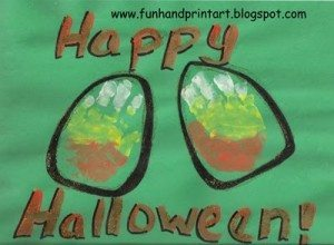 Handprint Candy Corn, Toddler Halloween Craft