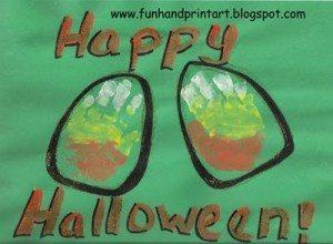 Handprint Candy Corn, Toddler Halloween Craft