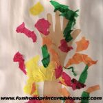 Fall Handprint Tree Craft with Tissue Paper Leaves
