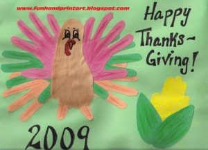 Thanksgiving Crafts - Hand And Foot Turkey, Handprint Corn