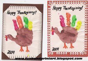 Handprint Turkey Cards for Thanksgiving