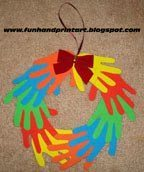 Foam Handprint Wreath for Christmas