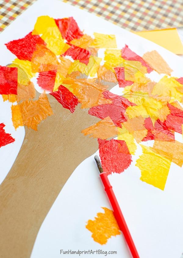 Autumn Tissue Paper Craft