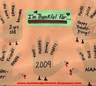 Thankful Turkey Hands Craft