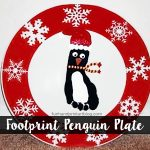 How to make a Footprint Penguin Santa Plate for Christmas