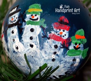 Handprint Snowman Ornament Keepsake