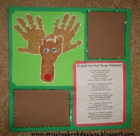 Painted Hand and Foot Reindeer