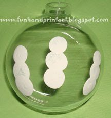 Thumbprint Snowman Family Christmas Ornament