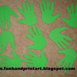 Foam Handprint Christmas Tree Craft