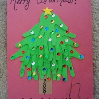 Foam Handprint Christmas Tree Craft