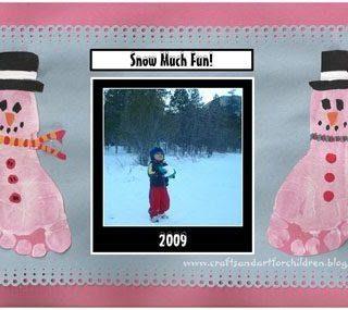 Snow Much Fun! Footprint Snowman Keepsake