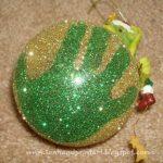 Sparkly Glitter Handprint Ornament
