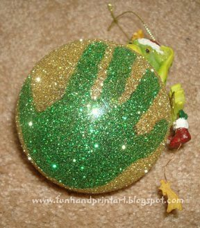 Sparkly Glitter Handprint Ornament Keepsake