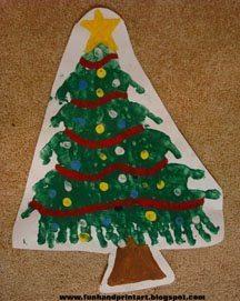 Handprint Christmas Tree Art