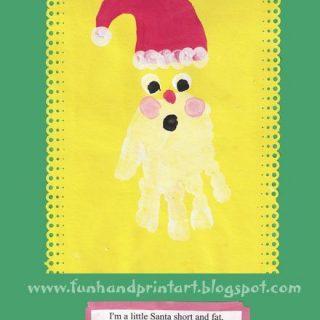 Handprint Santa – My Favorite Christmas Handprint Art!